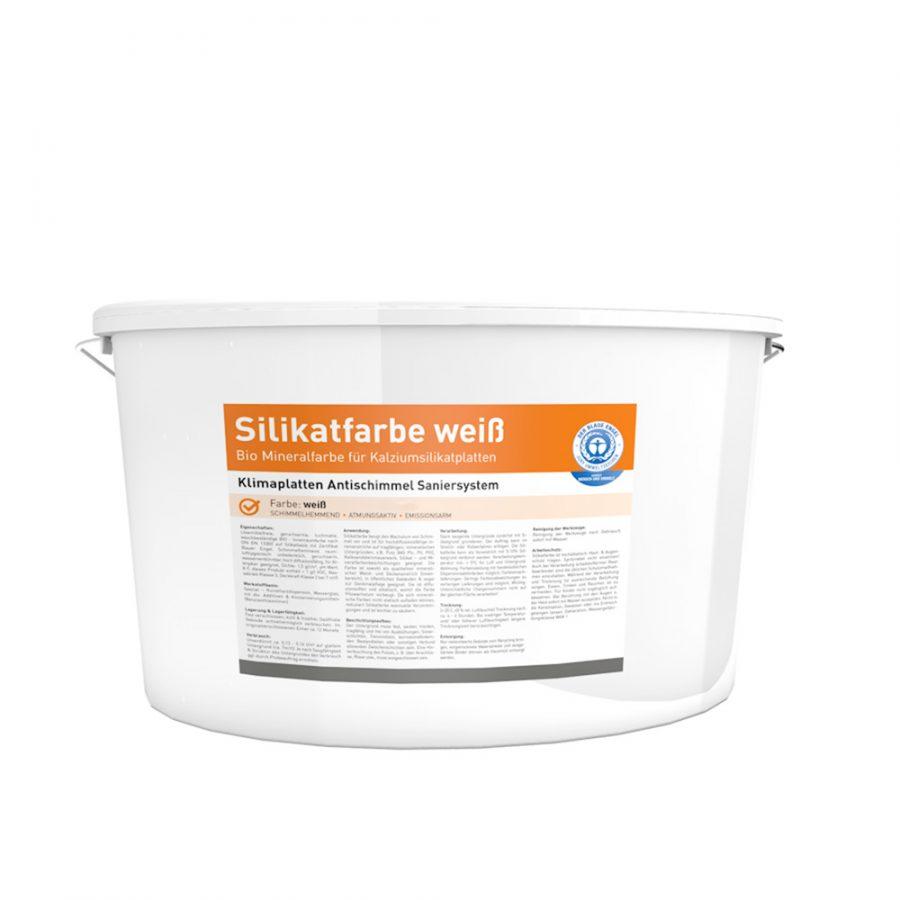 Klimaplatten Silikatfarbe / Antischimmelfarbe Eimer