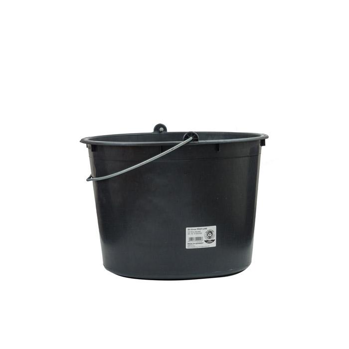 PROFI-LINE Baueimer in schwarz mit 20L Fassungsvermögen