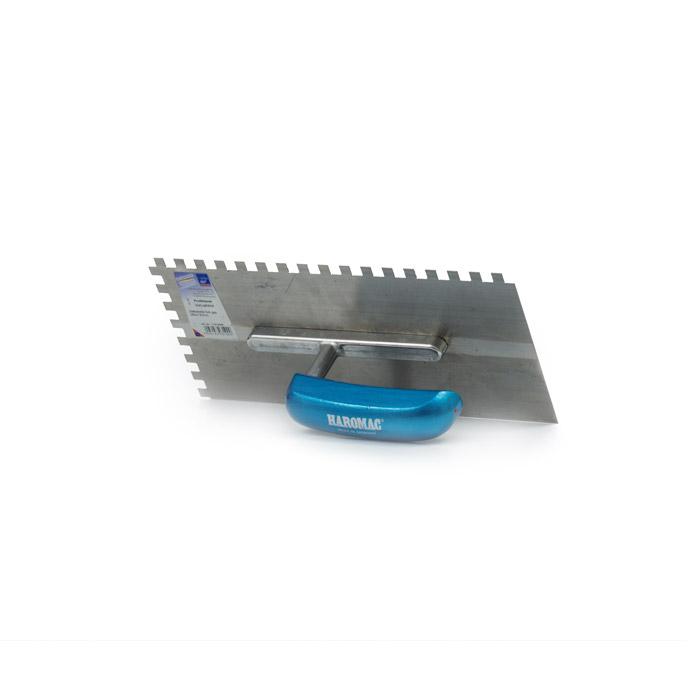 HAROMAC Glättkelle gezahnt 8x8mm aus erstklassigem gehärteter Stahl