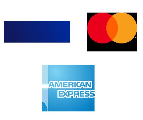 Zahlungsart: Kreditkarte (Visa / Mastercard / American Express) Icon