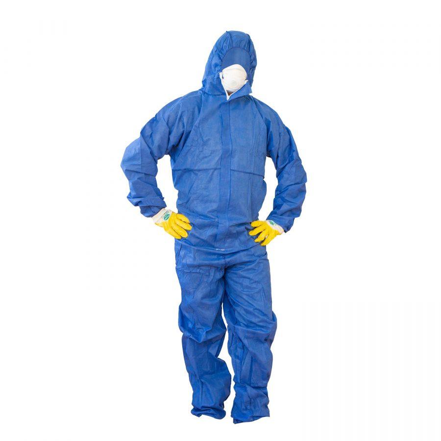 Arbeitsschutz Set zur Schimmelentfernung (Atemschutzmaske, Schutzanzug, Schutzhandschuhe)