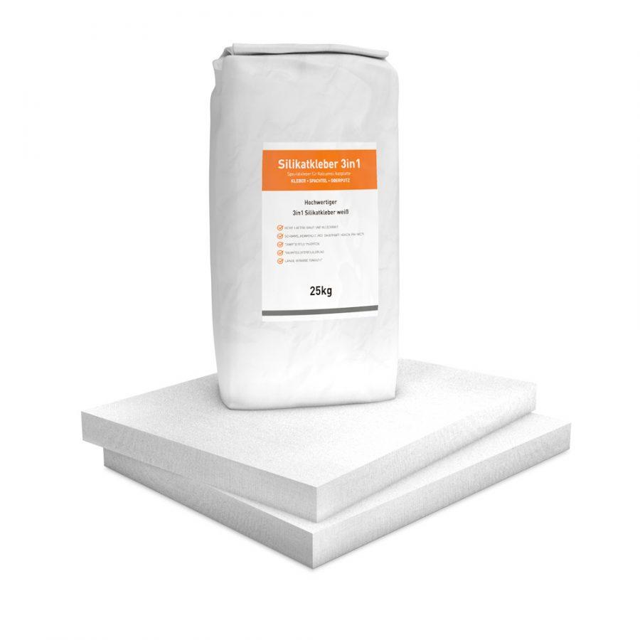 Vorgrundierte Kalziumsilikatplatten Renovierpaket im Format 500 x 625 50 mm Plus1 Zubehör