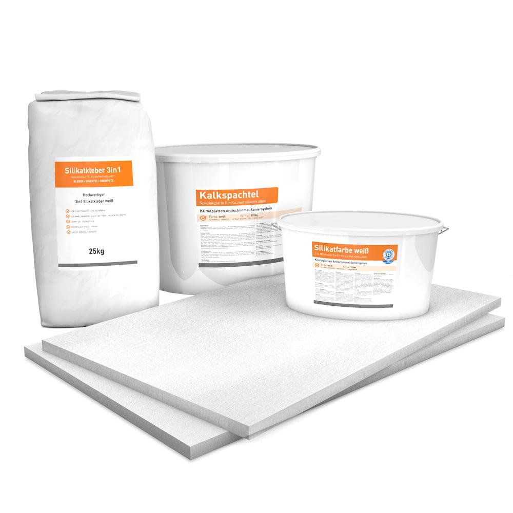 Vorgrundierte Kalziumsilikatplatten Renovierpaket im Format 1000 x 625 25 mm Plus3 Zubehör