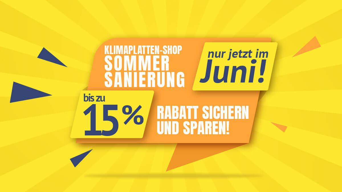 Klimaplatten Shop Juni Rabattaktion